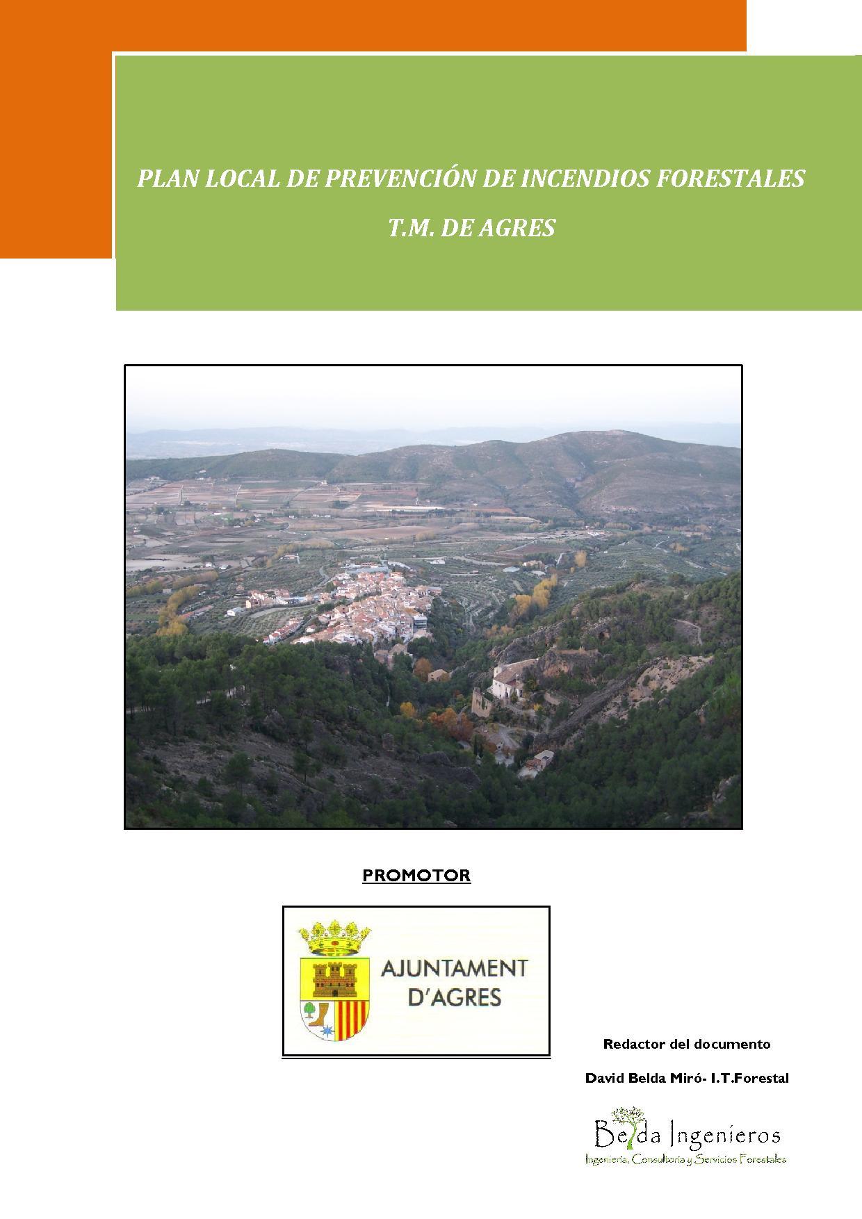 PREVENCIÓN DE INCENDIOS, FORESTALES, AGRES, MARIOLA