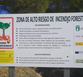Información para la prevención de incendios forestales en interfaz urbano forestal. Ayuntamiento de Petrer.